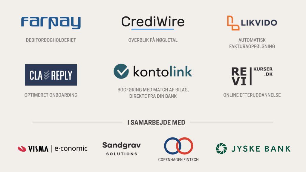 Virksomhederne bag Fintech Pakken 2019