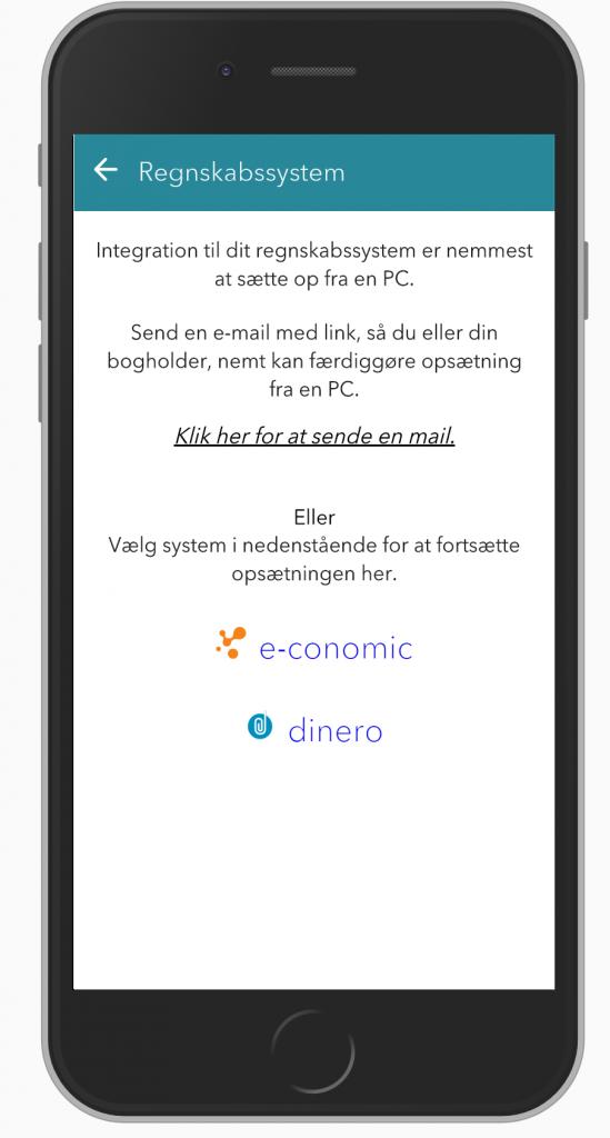 Opsætning af e-conomic i Kontolink